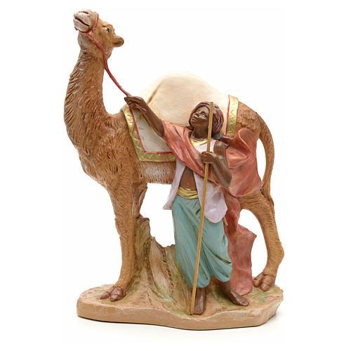 Camellero con camello para belén Fontanini con figuras de altura media 19 cm 1