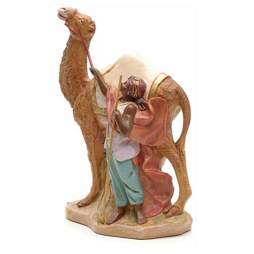 Camellero con camello para belén Fontanini con figuras de altura media 19 cm 2