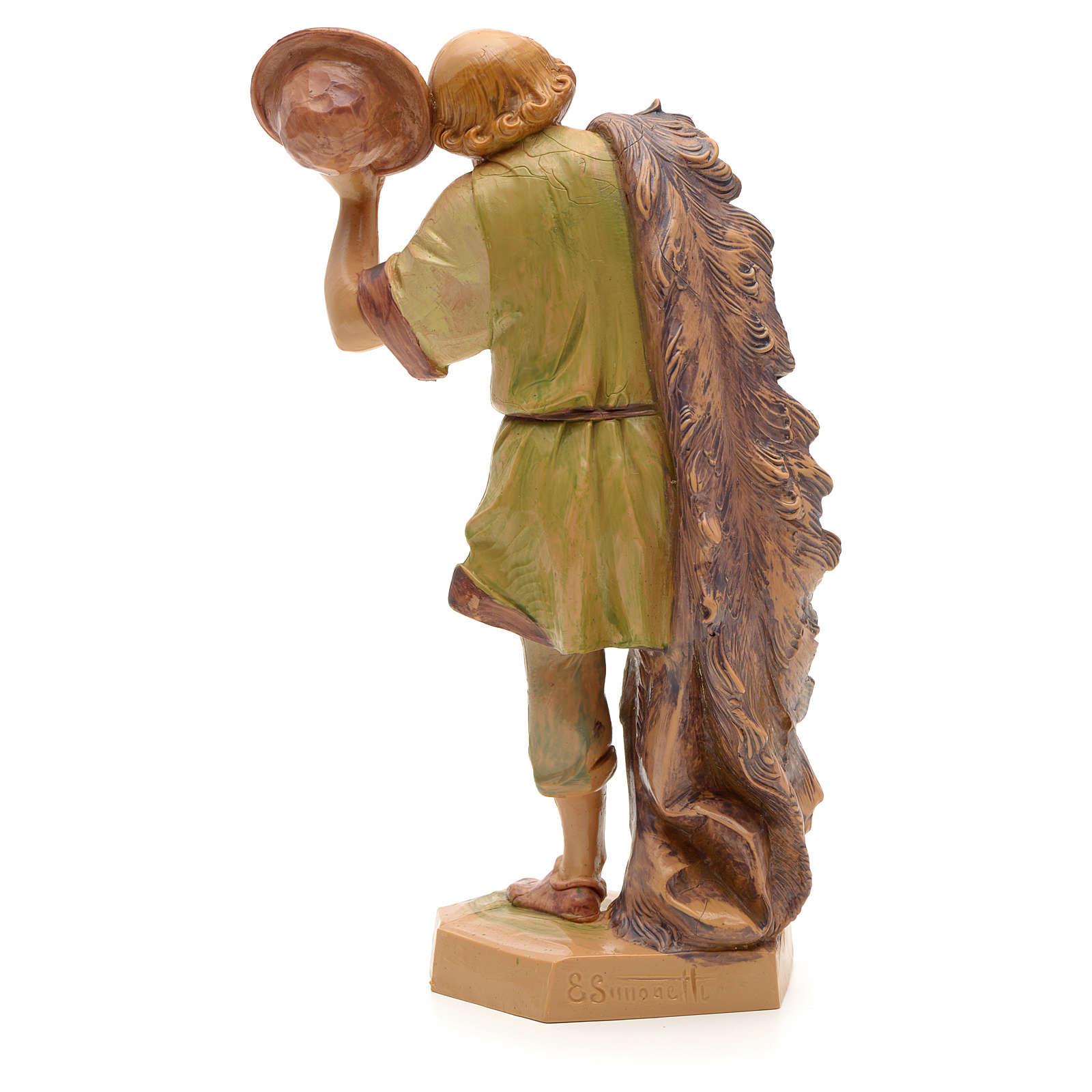 Pastor com chapéu na mão 19 cm Fontanini 3