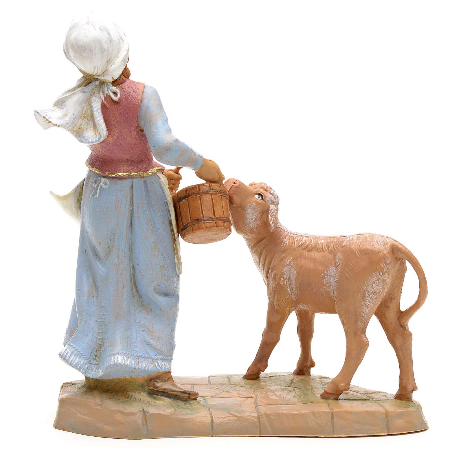 Pastora con becerro 19cm Fontanini 4