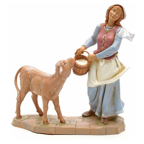 Pastora con becerro 19cm Fontanini 1