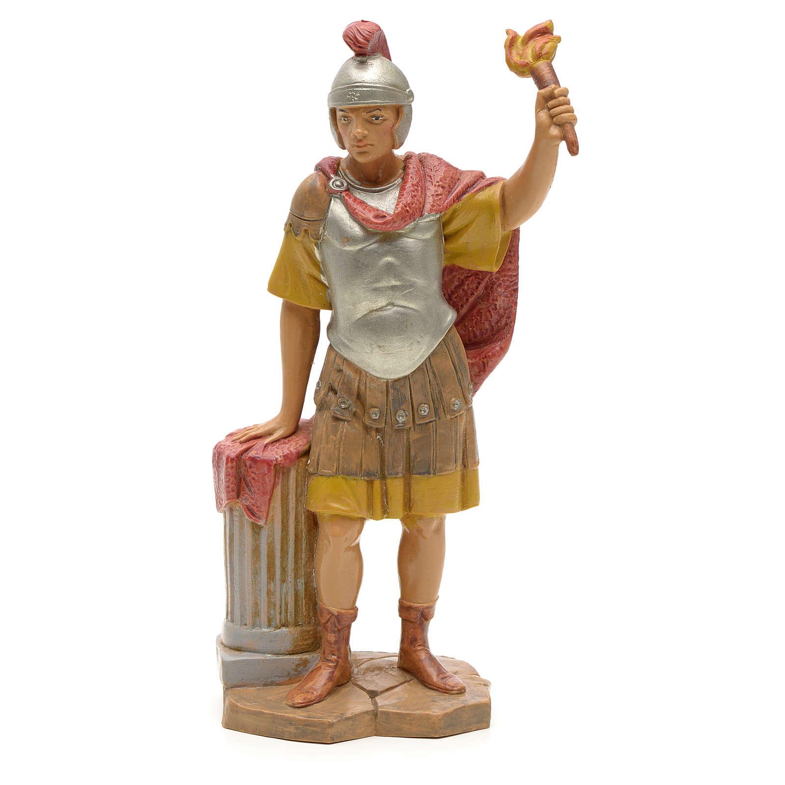 Soldat avec flambeau crèche Fontanini 19 cm 3