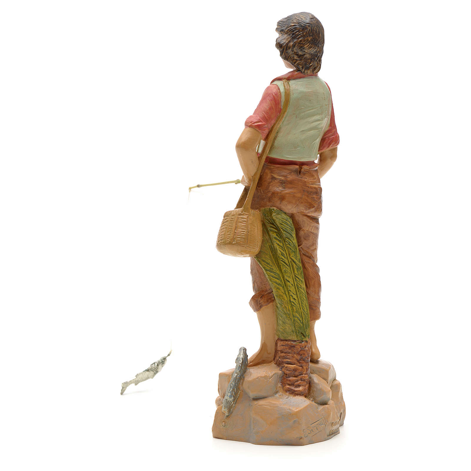 Pêcheur à la ligne crèche Fontanini 19 cm 3