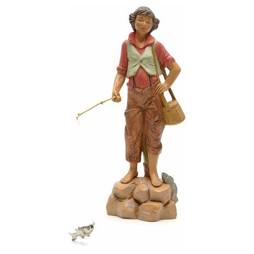 Pêcheur à la ligne crèche Fontanini 19 cm 1