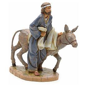 Figuras del Belén: Pastor con asno 19cm Fontanini
