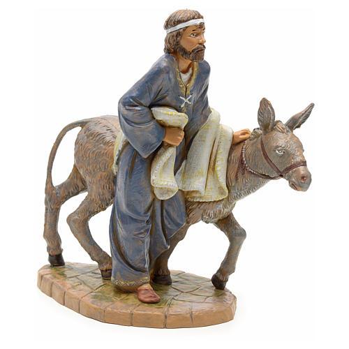 Pastore con asinello 19 cm Fontanini 1