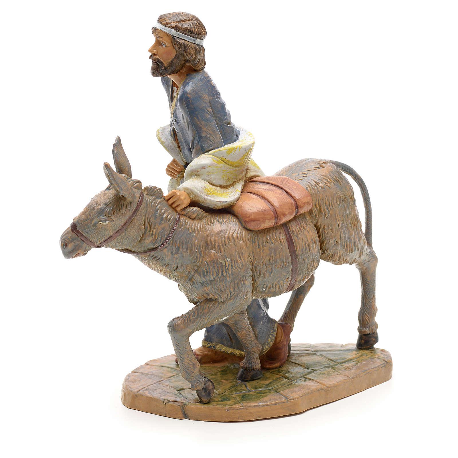 Pasterz z osiołkiem 19 cm Fontanini 3