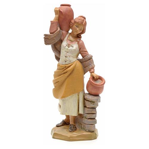 Porteuse de cruches crèche Fontanini 19 cm 1