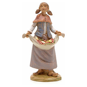 Figuras de Presépio: Rapariga com fruta 19 cm Fontanini