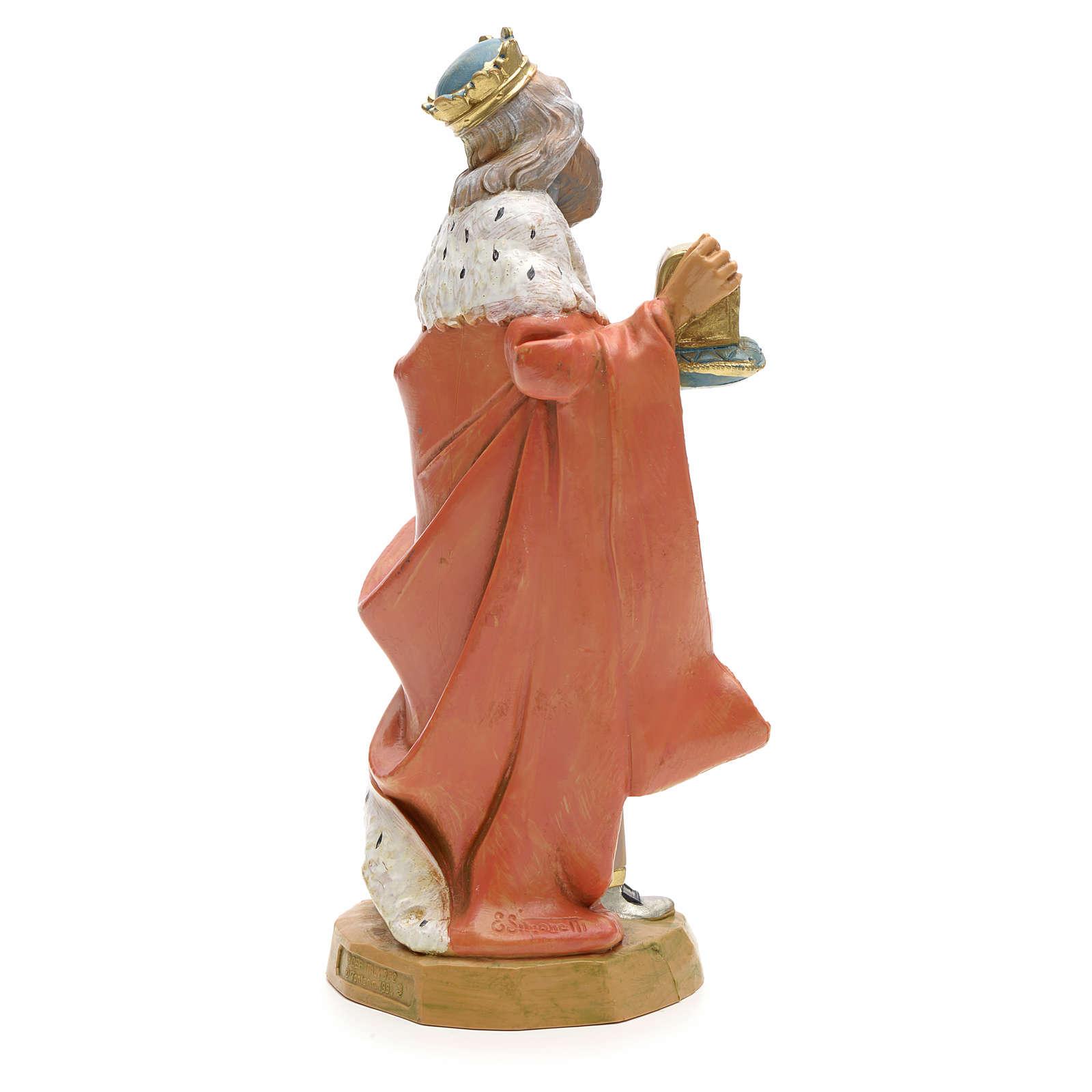 Roi Mage blanc crèche Fontanini 19 cm 3