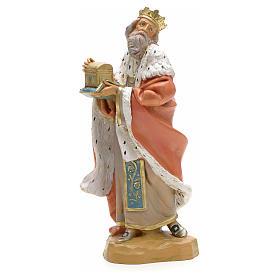 Rei Mago branco presépio 19 cm Fontanini s1