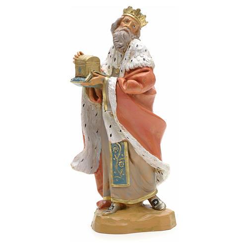 Rei Mago branco presépio 19 cm Fontanini 1