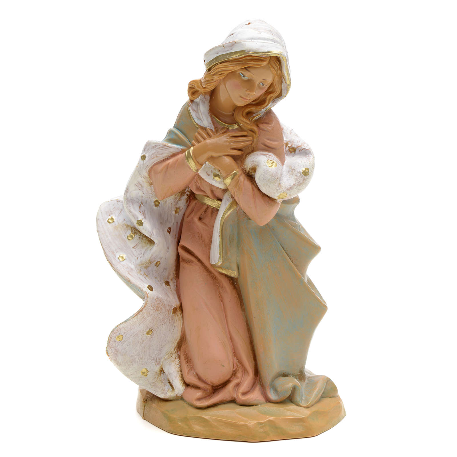 Virgen 19 cm Pesebre Fontanini 4