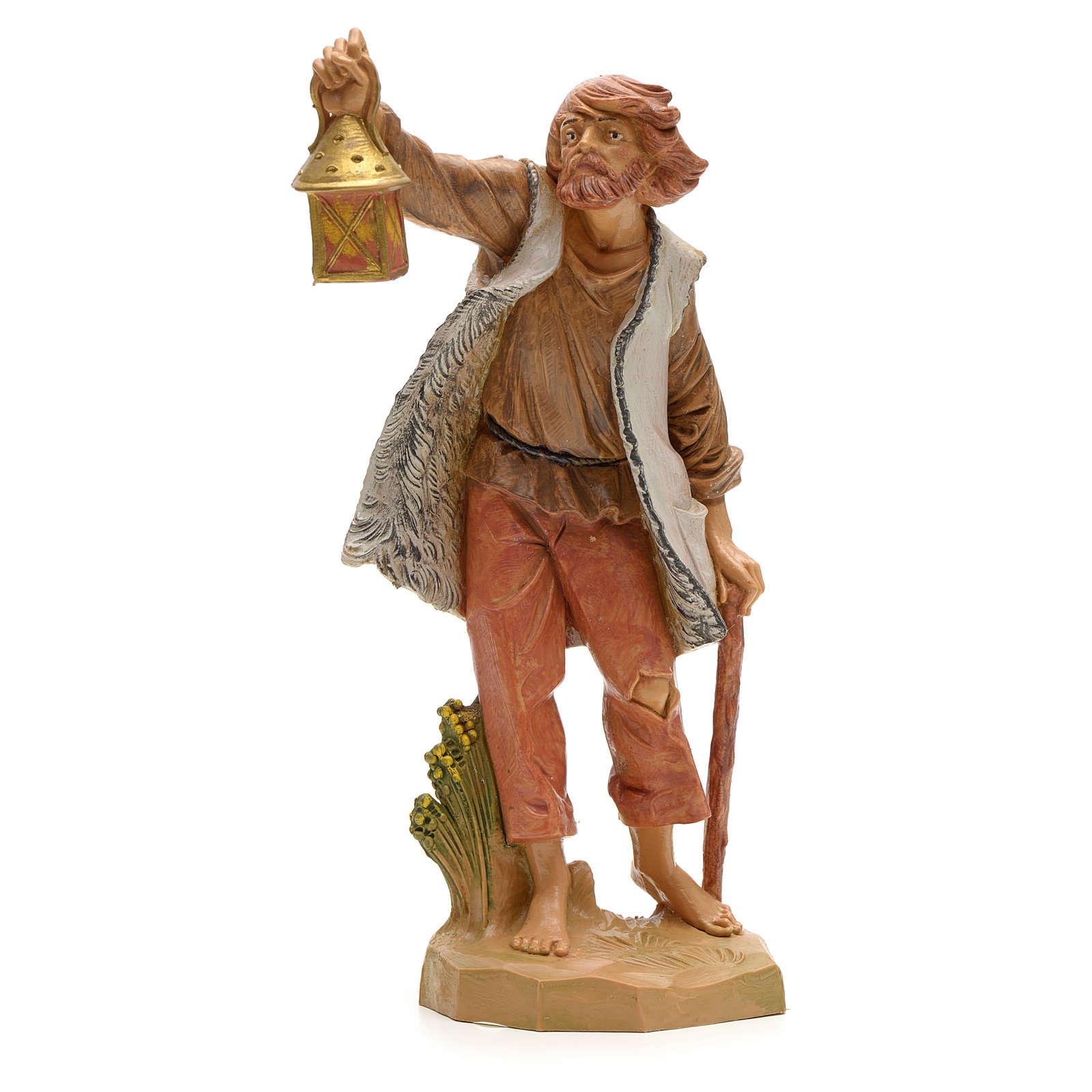 Berger et sa lanterne crèche Fontanini 19 cm 3
