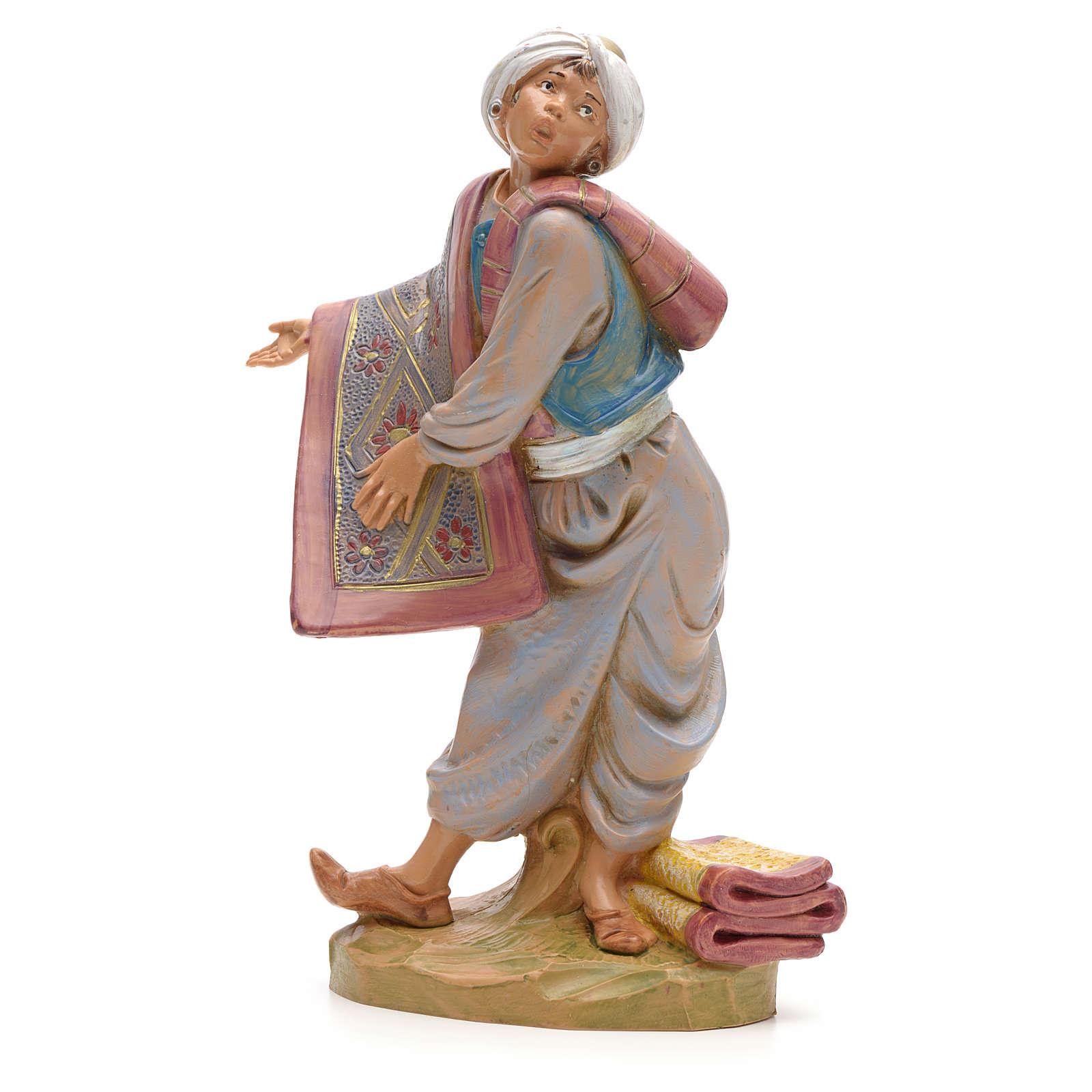 Vendedor de tapetes presépio 19 cm Fontanini 3