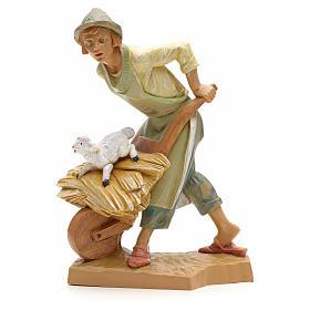 Figuras del Belén: Pastor con carretilla 19cm Fontanini