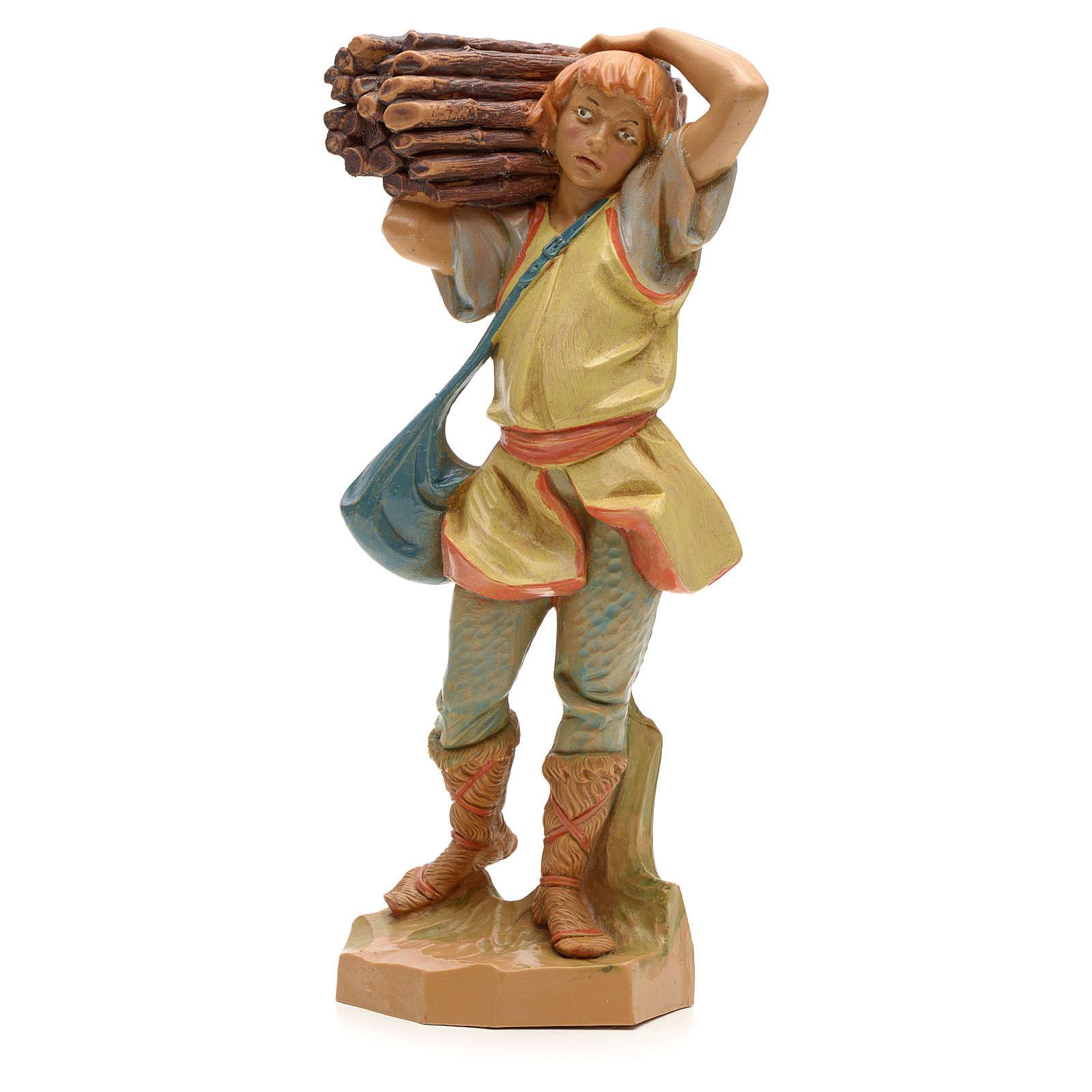 Pastor con madera 19cm Fontanini 3