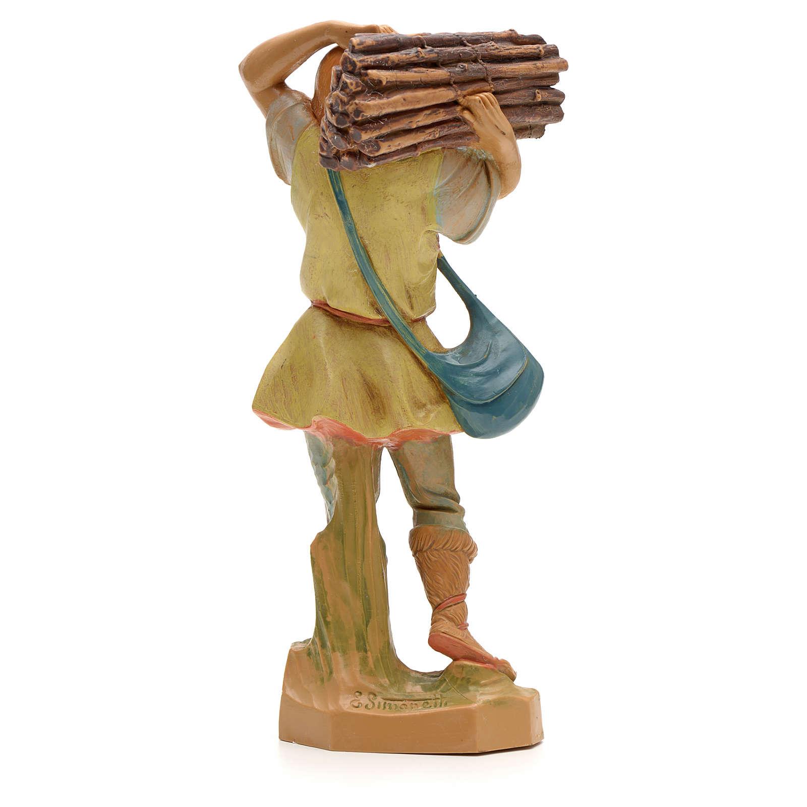 Porteur de bois crèche Fontanini 19 cm 3