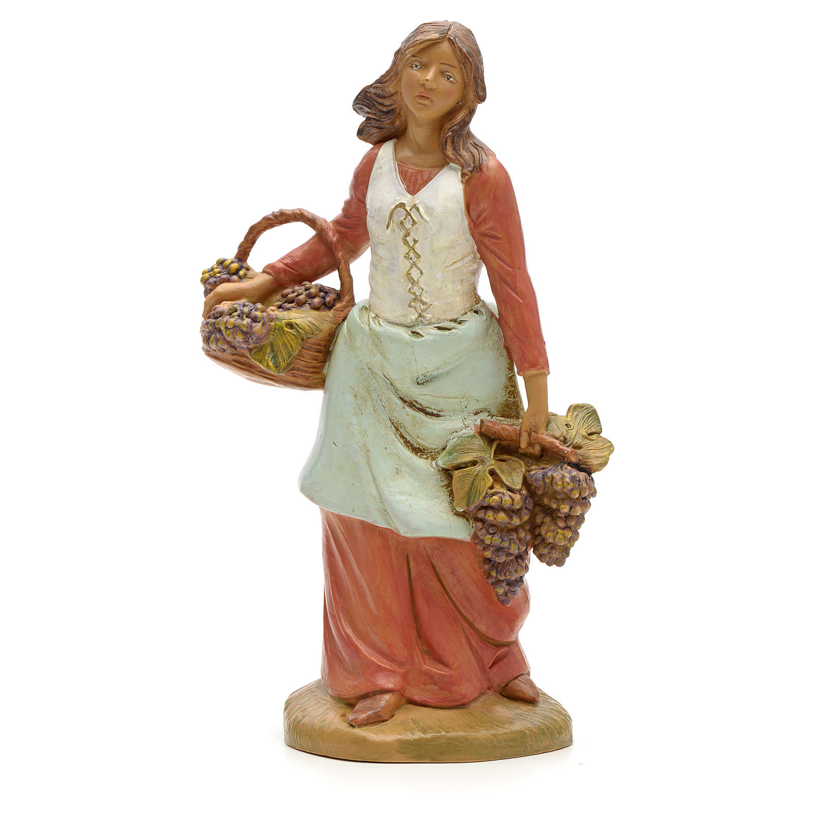Pastora con uvas 19cm Fontanini 4