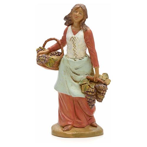Pastora con uvas 19cm Fontanini 1