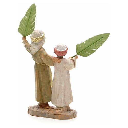 Enfants avec feuilles de palmier crèche Fontanini 12 cm 2
