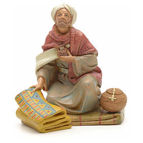 Vendedor de tapetes para Presépio Fontanini com figuras de altura média 12 cm s1