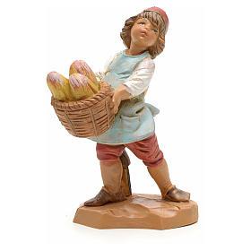 Bambino con cesta di pane 12 cm s1