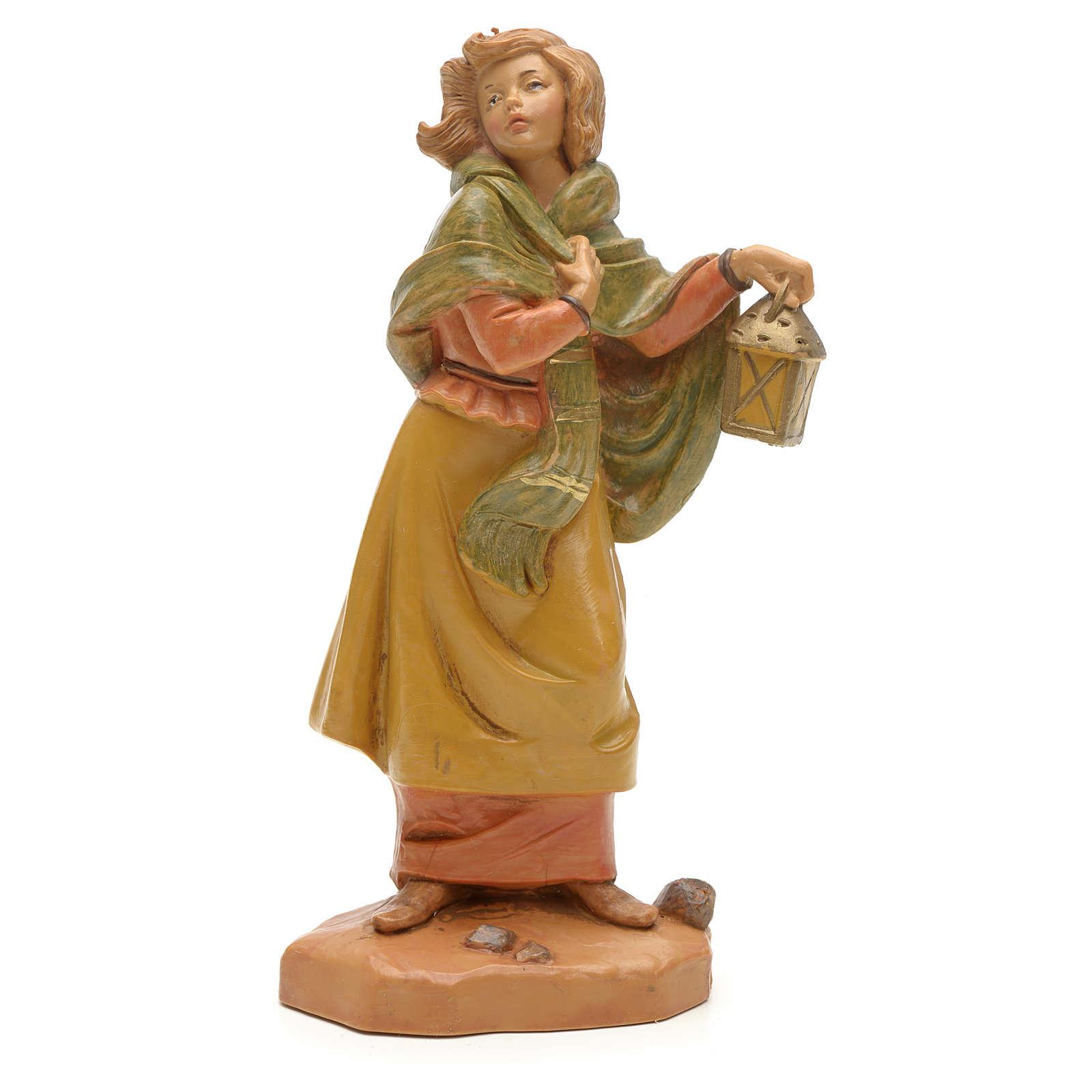 Pastora con linterna 12cm Fontanini 4