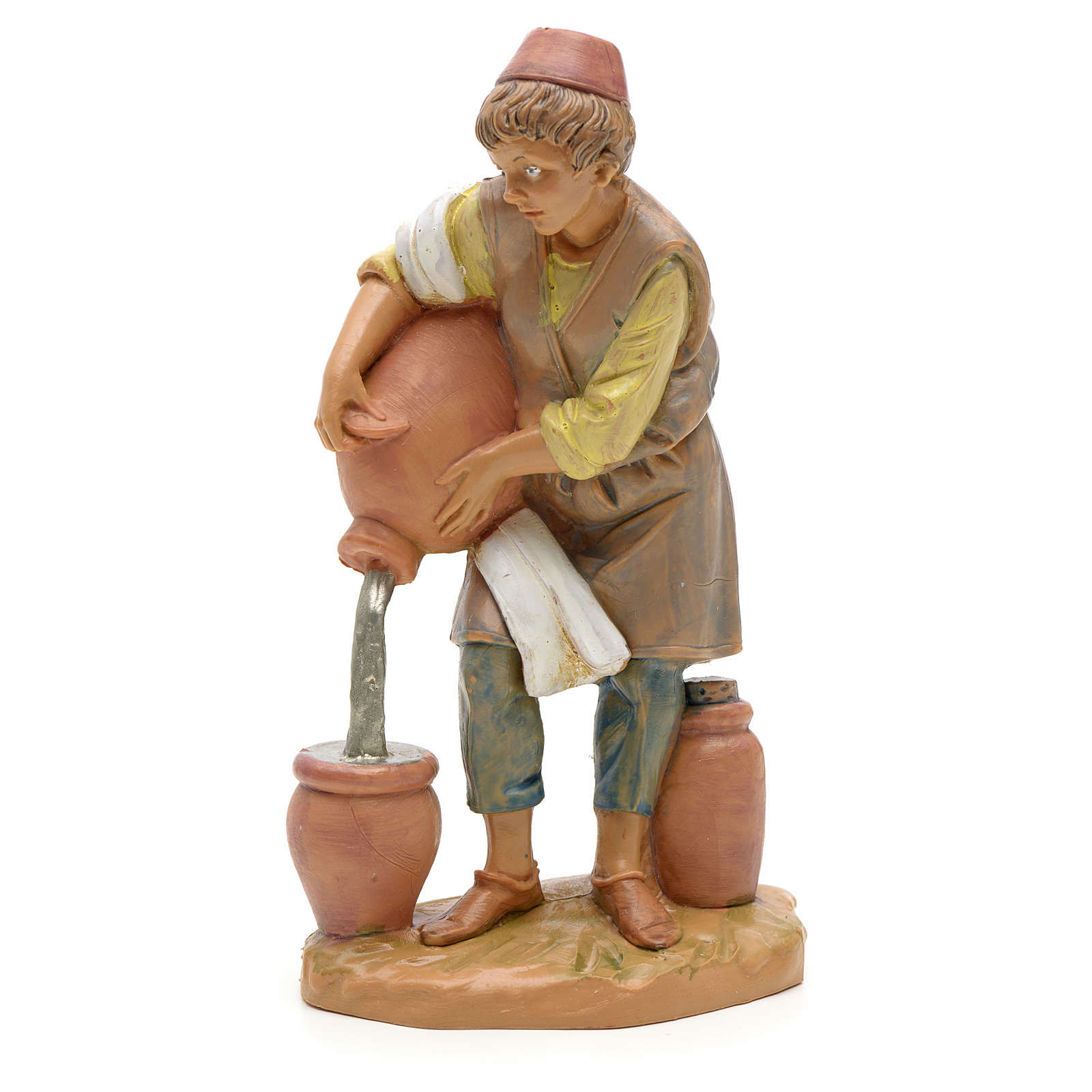 Pastor con jarrón 12cm Fontanini 4