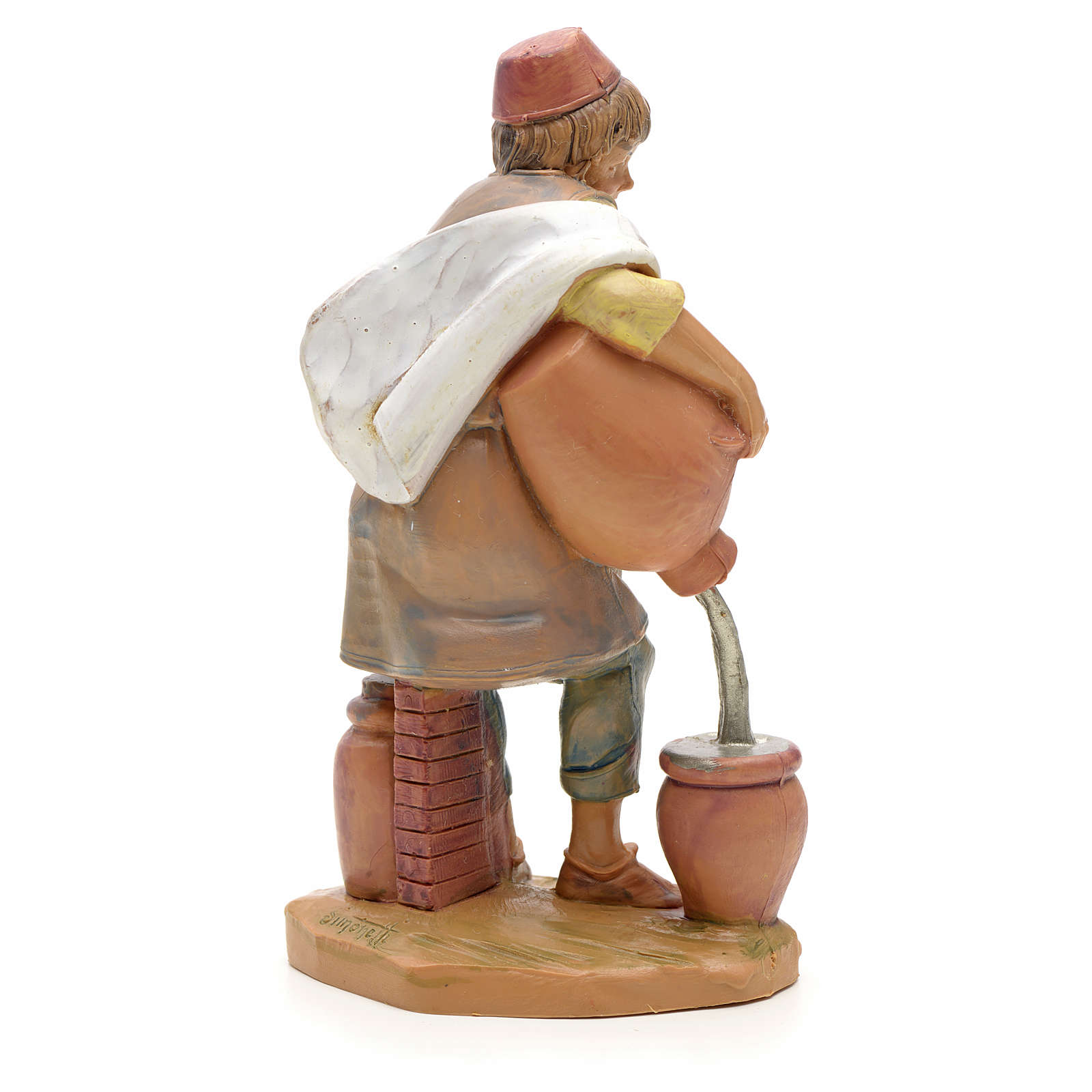 Pastor con jarrón 12cm Fontanini 3