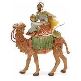 Rey moreno con camello 12cm Fontanini s1