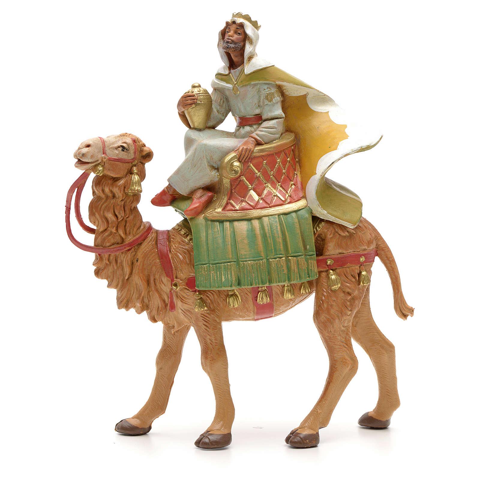 Roi maure avec chameau crèche Fontanini 12 cm 4