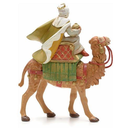 Roi maure avec chameau crèche Fontanini 12 cm 2