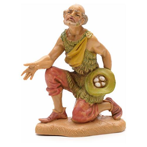 Homme avec oeufs crèche Fontanini 12 cm 1