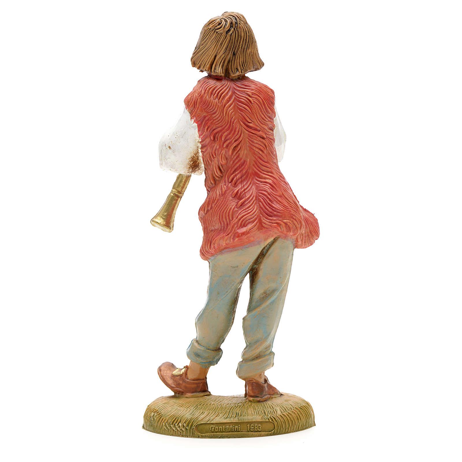 Berger avec flûte crèche Fontanini 12 cm 3