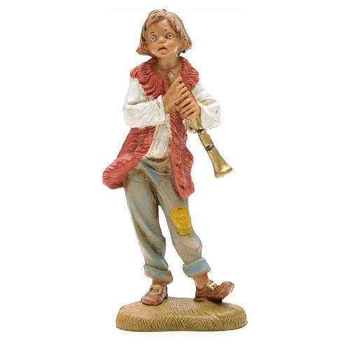 Berger avec flûte crèche Fontanini 12 cm 1