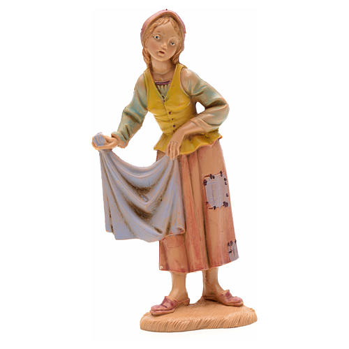 Shepherdess with cloth, 12cm by Fontanini 1