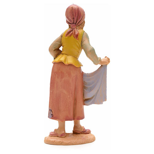 Shepherdess with cloth, 12cm by Fontanini 2