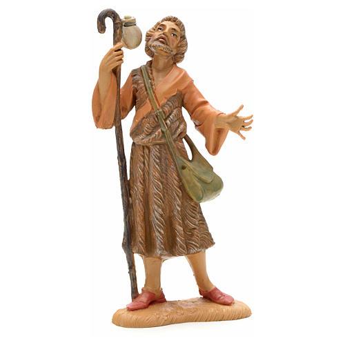 Pastor com bastão e bolsa 12 cm Fontanini 1