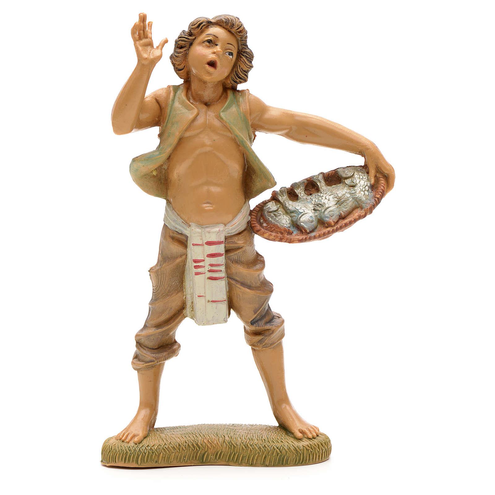 Chłopiec z koszem ryb Fontanini 12 cm 4