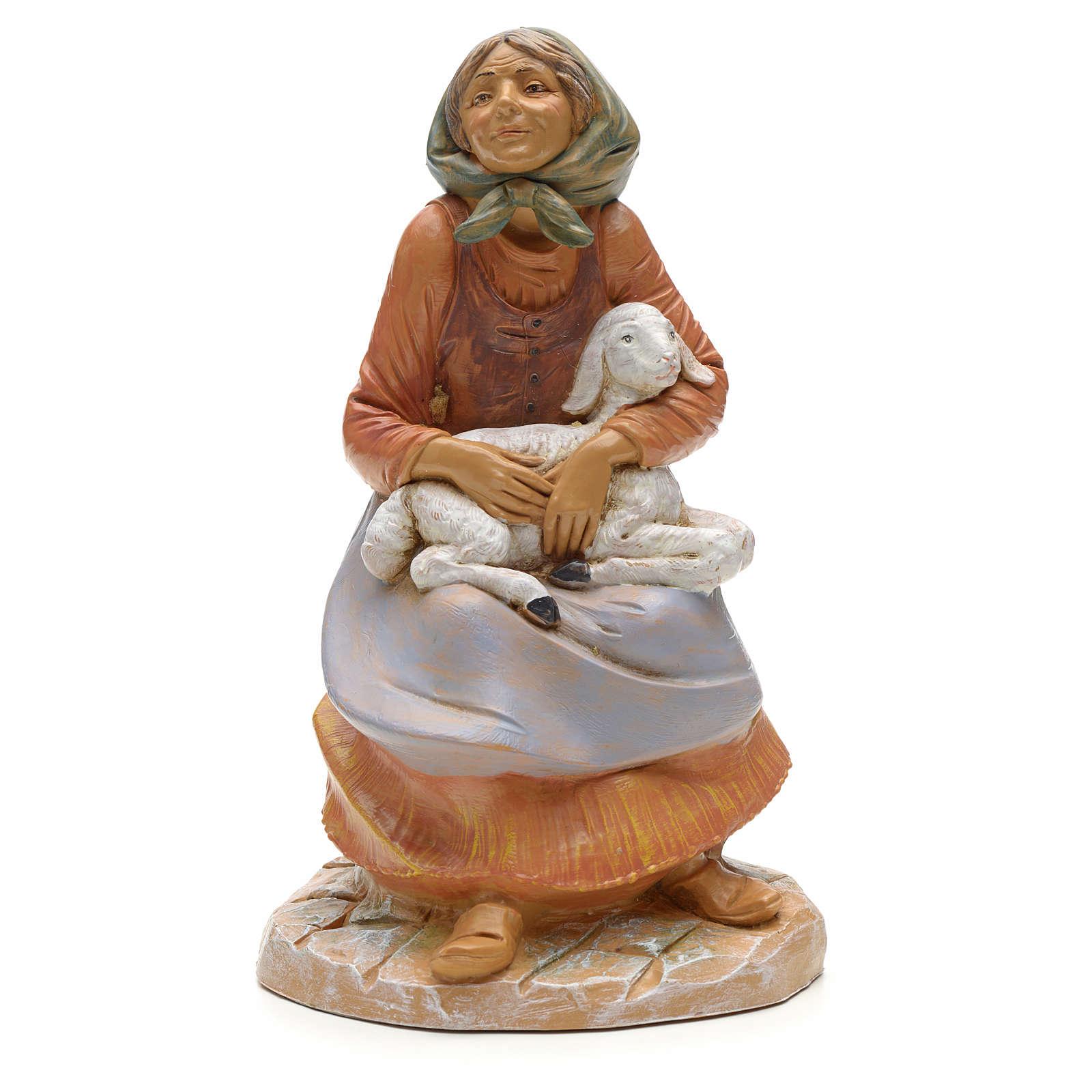 Pastora sentada con oveja 30 cm Fontanini 3