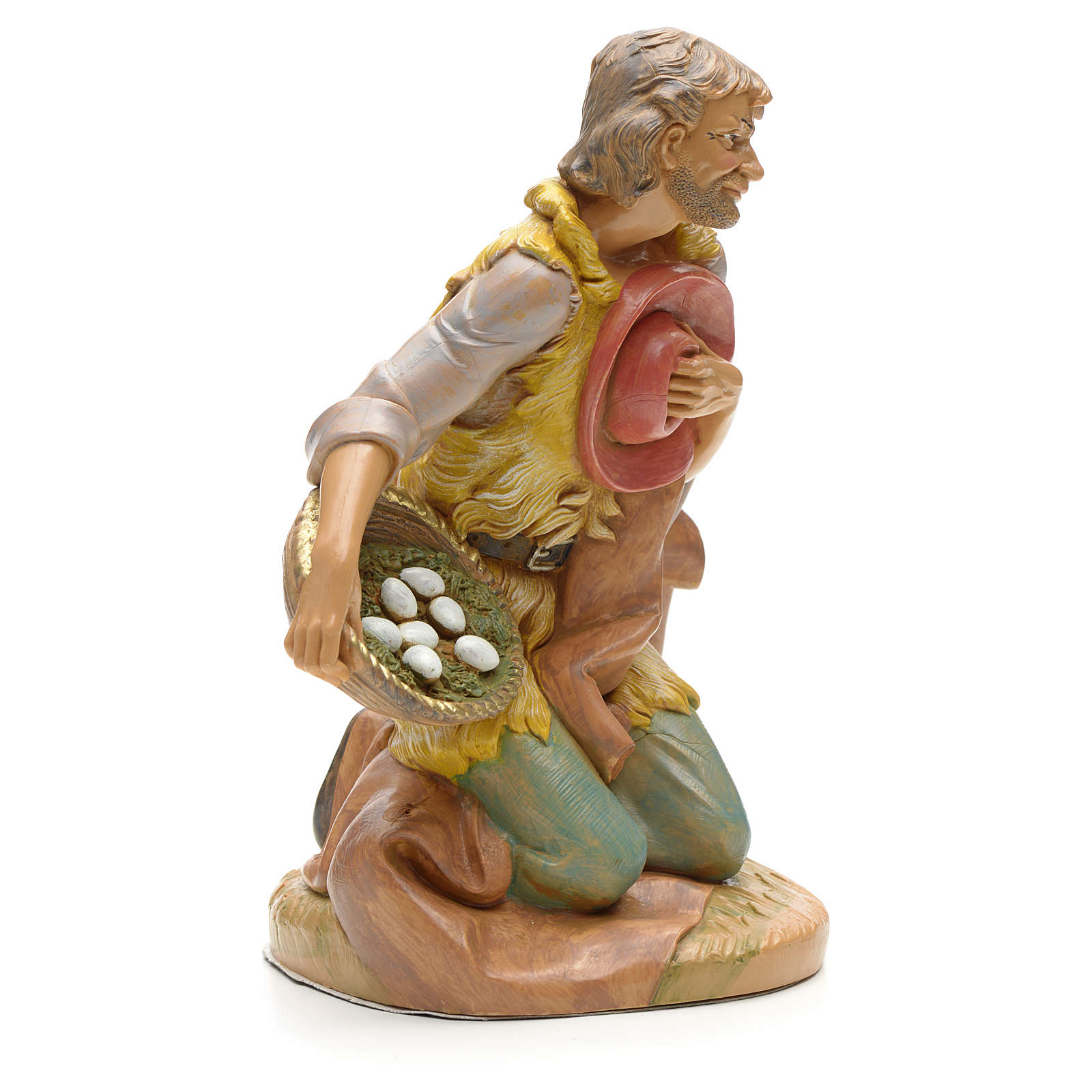 Pastore in ginocchio con uova 30 cm Fontanini 3