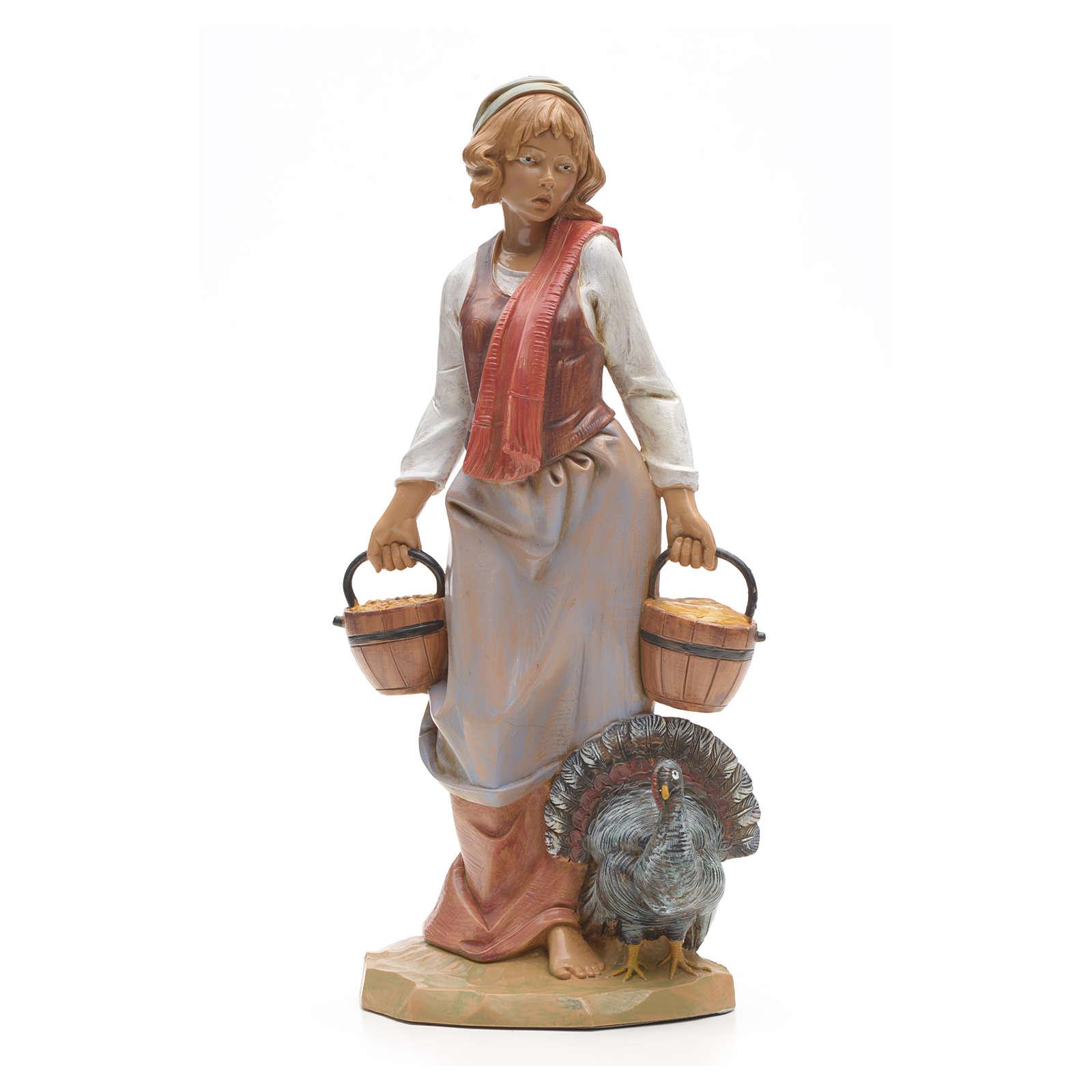 Pastora con pavo 30 cm Fontanini 3