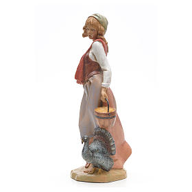 Pastora con pavo 30 cm Fontanini s2