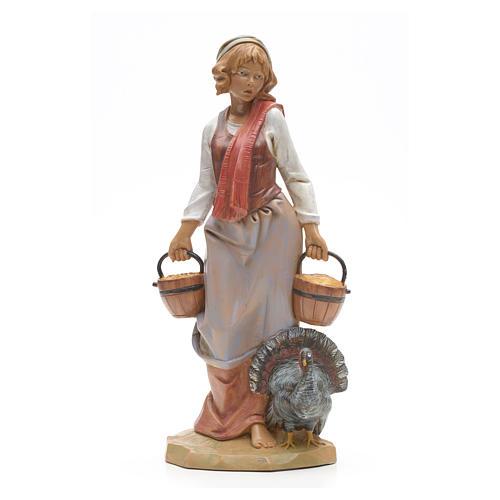 Pastora con pavo 30 cm Fontanini 1