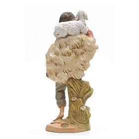 Pasterz z owcą Fontanini 30 cm s3