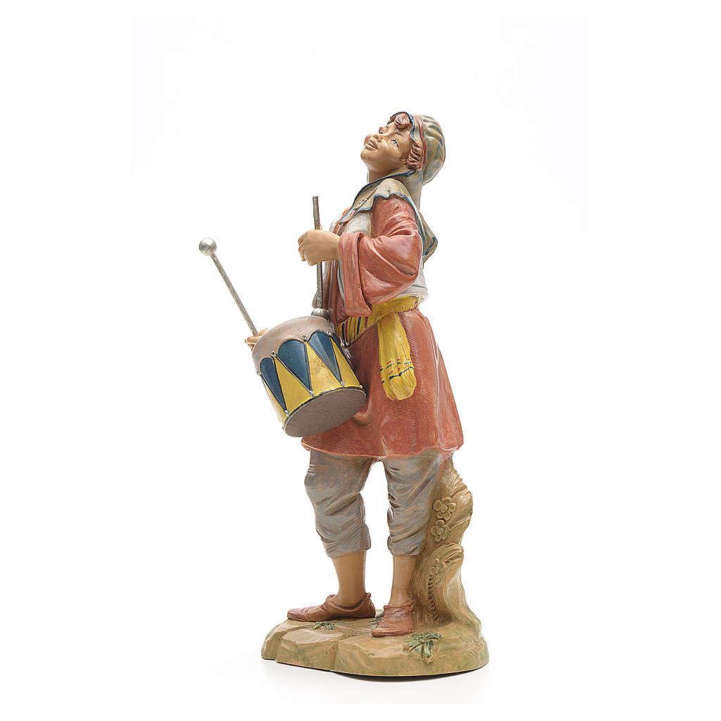 Berger avec tambour crèche Fontanini 30 cm 3
