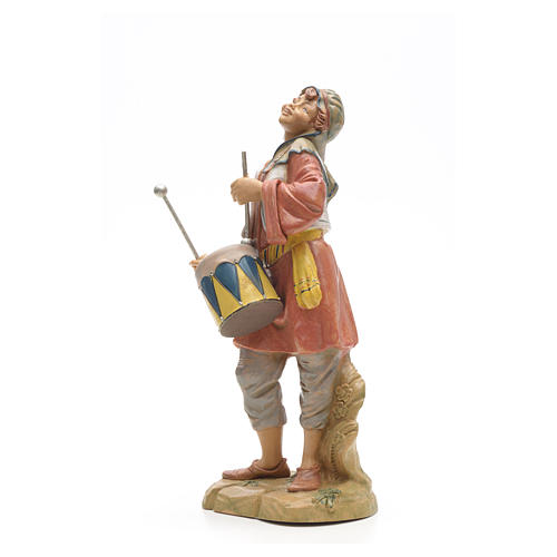 Berger avec tambour crèche Fontanini 30 cm 5