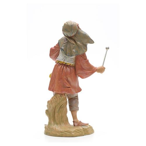 Berger avec tambour crèche Fontanini 30 cm 6