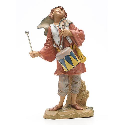Berger avec tambour crèche Fontanini 30 cm 1